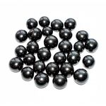 Shungite polished bead 10 mm without hole. Shungite Beads.
