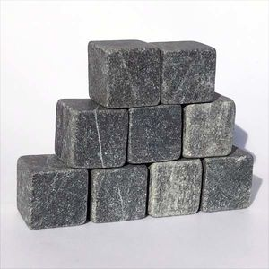 Set of 9 unpolished tulikivi cubes 20 mm. Soapstone Cubes.
